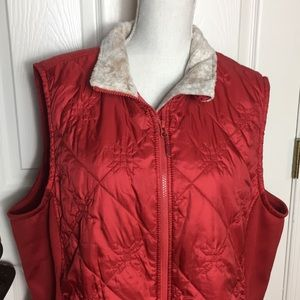 LL Bean | women's plus size vest faux fur size 3X